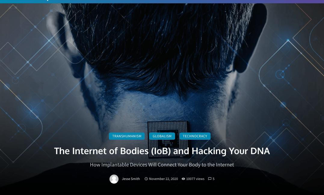 Wenn Sie dachten, 5G und das IoT wären extrem gefährlich, achten Sie auf das IoB